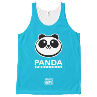 Suicide Squad | Panda Purveyors Logo All-Over Print Tank Top