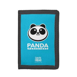 Suicide Squad   Panda Purveyors Logo Tri-fold Wallet