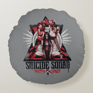 Suicide Squad | Pretty Crazy Squad Girls Round Cushion