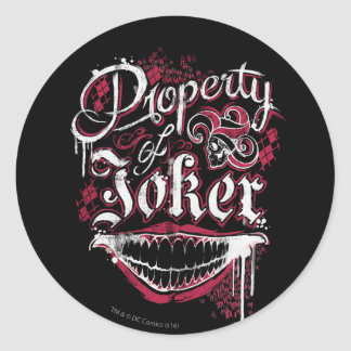 Suicide Squad | Property of Joker Classic Round Sticker