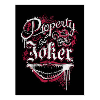 Suicide Squad | Property of Joker Postcard