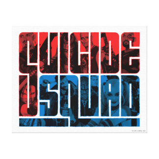 Suicide Squad | Red and Blue Logo Canvas Print
