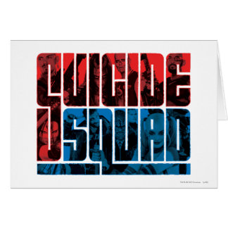 Suicide Squad | Red and Blue Logo Card
