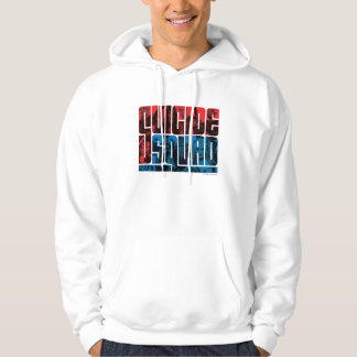 Suicide Squad | Red and Blue Logo Hoodie