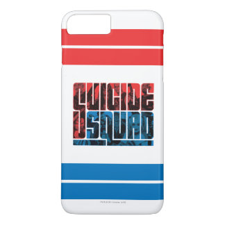 Suicide Squad | Red and Blue Logo iPhone 8 Plus/7 Plus Case