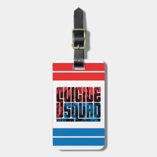 Suicide Squad | Red and Blue Logo Luggage Tag