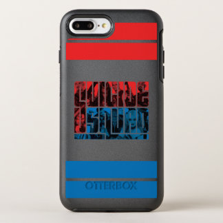 Suicide Squad | Red and Blue Logo OtterBox Symmetry iPhone 8 Plus/7 Plus Case