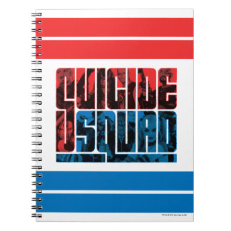 Suicide Squad | Red and Blue Logo Spiral Notebook