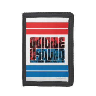 Suicide Squad | Red and Blue Logo Trifold Wallet