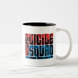 Suicide Squad | Red and Blue Logo Two-Tone Coffee Mug