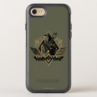 Suicide Squad   Rick Flag Badge OtterBox Symmetry iPhone 8/7 Case