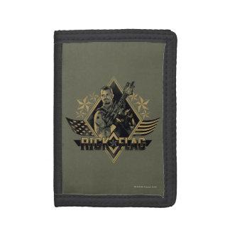 Suicide Squad | Rick Flag Badge Tri-fold Wallet