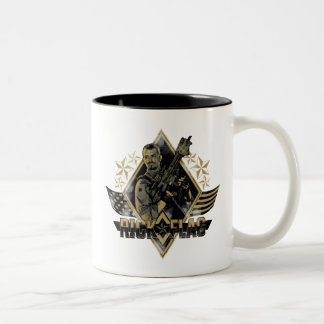 Suicide Squad | Rick Flag Badge Two-Tone Coffee Mug