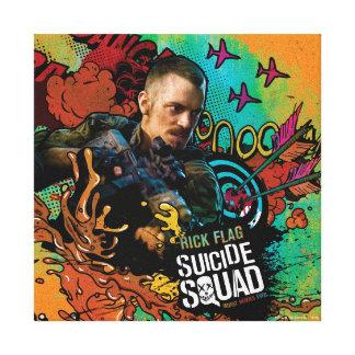 Suicide Squad   Rick Flag Character Graffiti Canvas Print