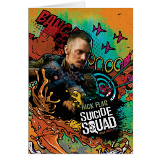Suicide Squad   Rick Flag Character Graffiti Card