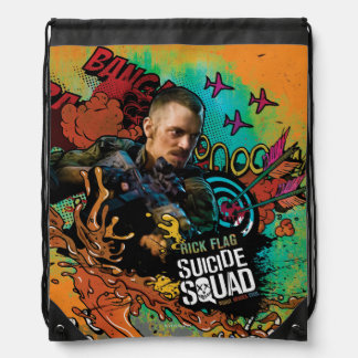 Suicide Squad | Rick Flag Character Graffiti Drawstring Bag