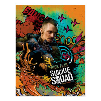 Suicide Squad | Rick Flag Character Graffiti Postcard