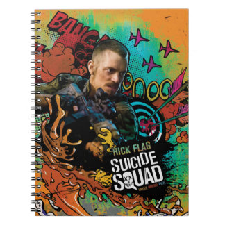Suicide Squad | Rick Flag Character Graffiti Spiral Notebook