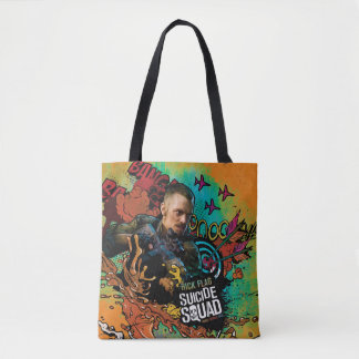 Suicide Squad | Rick Flag Character Graffiti Tote Bag