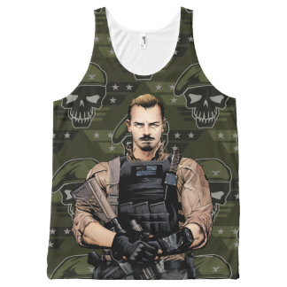 Suicide Squad | Rick Flag Comic Book Art All-Over Print Tank Top