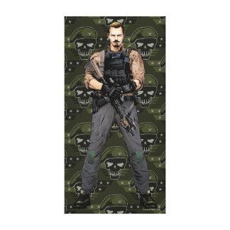Suicide Squad   Rick Flag Comic Book Art Canvas Print
