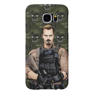Suicide Squad | Rick Flag Comic Book Art Samsung Galaxy S6 Cases