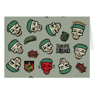 Suicide Squad | Rick Flag Emoji Pattern Card