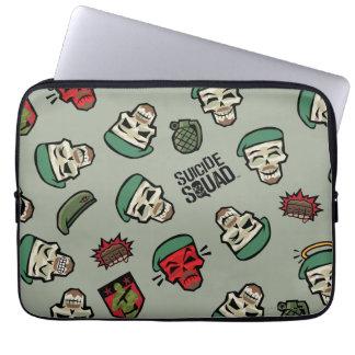 Suicide Squad | Rick Flag Emoji Pattern Laptop Sleeve