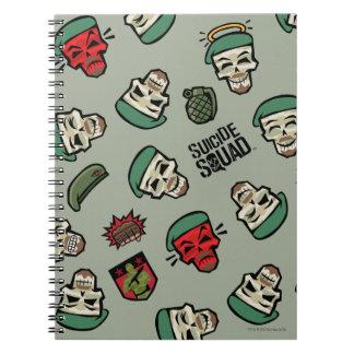 Suicide Squad | Rick Flag Emoji Pattern Notebooks
