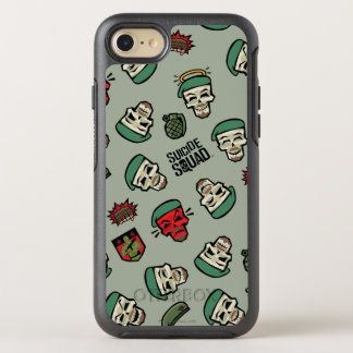 Suicide Squad | Rick Flag Emoji Pattern OtterBox Symmetry iPhone 8/7 Case