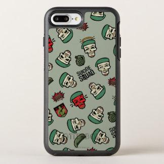 Suicide Squad | Rick Flag Emoji Pattern OtterBox Symmetry iPhone 8 Plus/7 Plus Case
