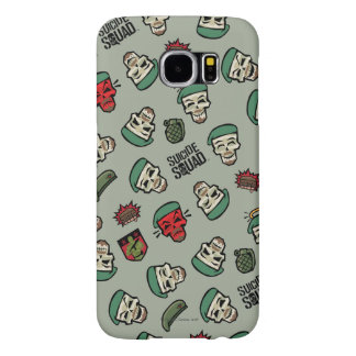 Suicide Squad | Rick Flag Emoji Pattern Samsung Galaxy S6 Cases