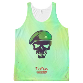 Suicide Squad | Rick Flag Head Icon 2 All-Over Print Tank Top