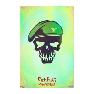 Suicide Squad   Rick Flag Head Icon Canvas Print