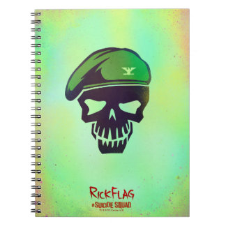 Suicide Squad | Rick Flag Head Icon Notebooks