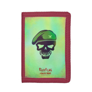 Suicide Squad   Rick Flag Head Icon Tri-fold Wallets