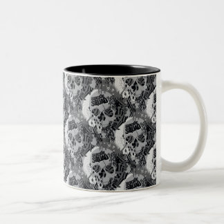 Suicide Squad | Skull Pattern Two-Tone Coffee Mug