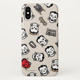Suicide Squad | Slipknot Emoji Pattern iPhone X Case
