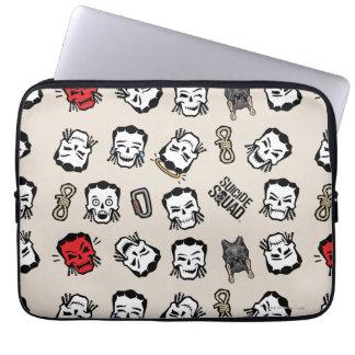 Suicide Squad | Slipknot Emoji Pattern Laptop Sleeve