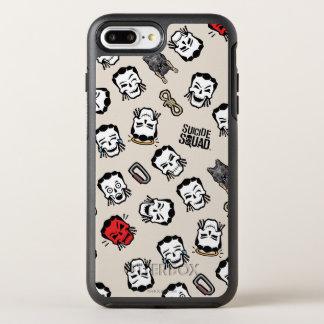 Suicide Squad | Slipknot Emoji Pattern OtterBox Symmetry iPhone 8 Plus/7 Plus Case