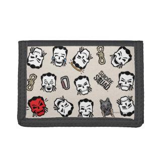 Suicide Squad   Slipknot Emoji Pattern Tri-fold Wallet