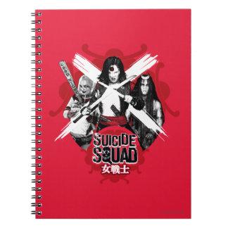"Suicide Squad | Squad Girls ""Female Warrior"" Spiral Notebook"
