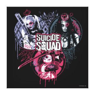 Suicide Squad | Squad Girls Graffiti Badges Canvas Print