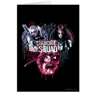 Suicide Squad | Squad Girls Graffiti Badges Card
