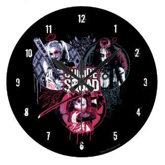 Suicide Squad | Squad Girls Graffiti Badges Clocks