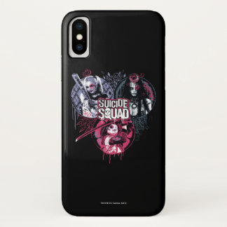 Suicide Squad | Squad Girls Graffiti Badges iPhone X Case