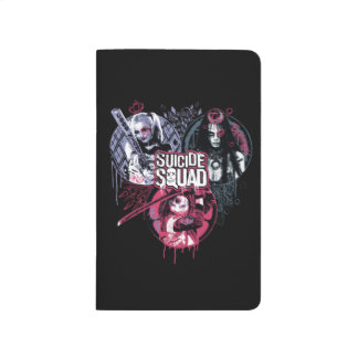 Suicide Squad | Squad Girls Graffiti Badges Journal