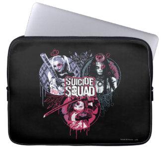 Suicide Squad | Squad Girls Graffiti Badges Laptop Sleeve