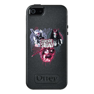 Suicide Squad | Squad Girls Graffiti Badges OtterBox iPhone 5/5s/SE Case