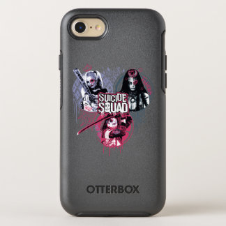 Suicide Squad | Squad Girls Graffiti Badges OtterBox Symmetry iPhone 8/7 Case